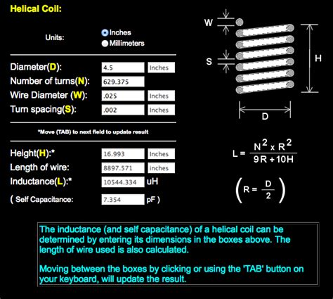 how to build a tesla coil helical coil calculator 28 images image gallery