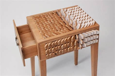 juno jeon s bedside table has scales that act like a
