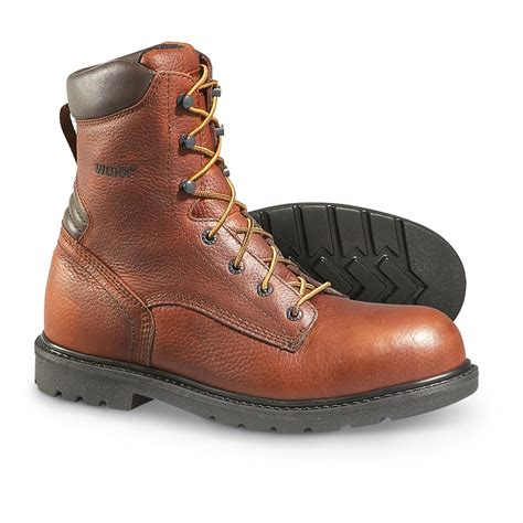 s worx steel toe work boots brown 177477 work