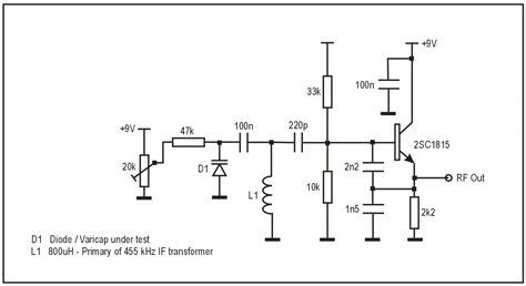 rectifier diodes as varicaps varactor diode in tuning circuits 28 images ne 502 varactor tuning input circuit 555 circuit