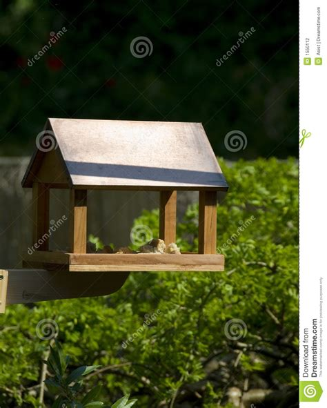 wooden bird feeder house stock photography image 1550112