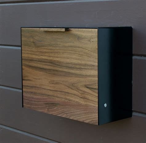 contemporary mailboxes modern mailbox large walnut and stainless steel mailbox