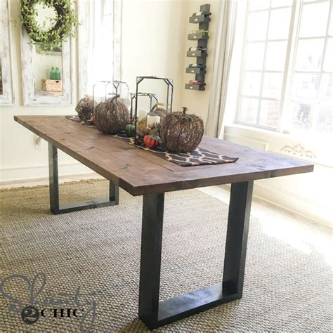 rustic chic dining table diy rustic modern dining table shanty 2 chic