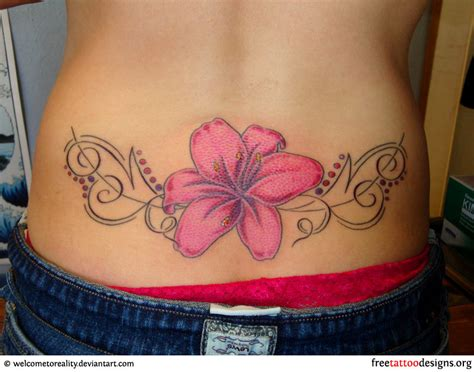 low back tattoos gold necklace 20 fair flower tattoos on lower back