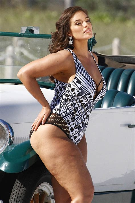 ashley graham swimsuit photo shoot  miami sandra rose