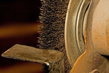 bench grinder brush how to clean and polish brass