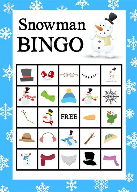 winter bingo card template 6 best images of snowman bingo printable free printable