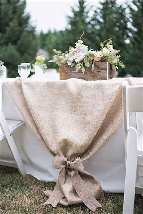 creative ideas for table runners 22 rustic burlap wedding table runner ideas you will