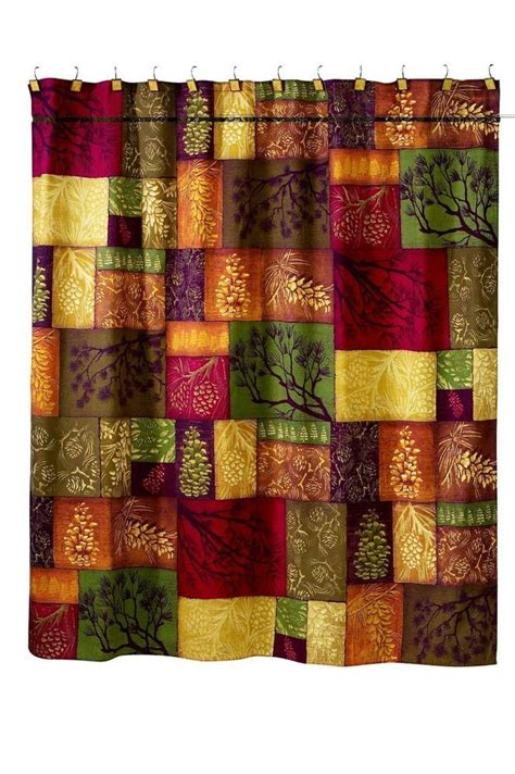 log cabin shower curtain rustic shower curtain avanti linens adirondack country