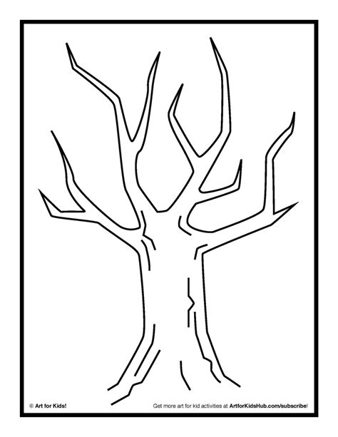 tree template without leaves tree without leaves painting clipart best