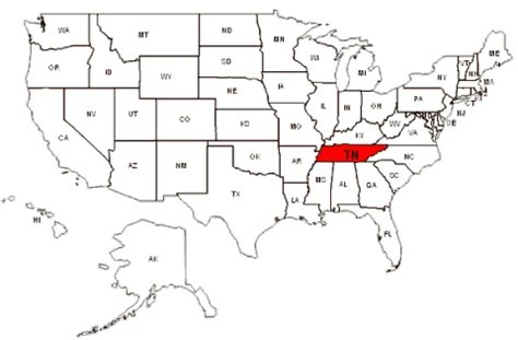 tennessee on the map of usa tennessee map usa