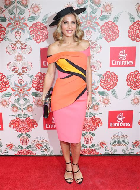 elsa pataky emirates marquee melbourne cup november 2016 more pics of elsa pataky off the shoulder dress 4 of 33
