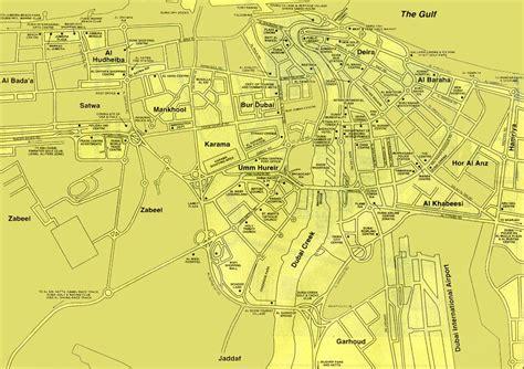 complete dubai city street map  tourist guidance uae