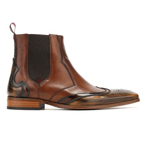 camel chelsea boots mens jeffery west mens camel mid brown chelsea boots brogue