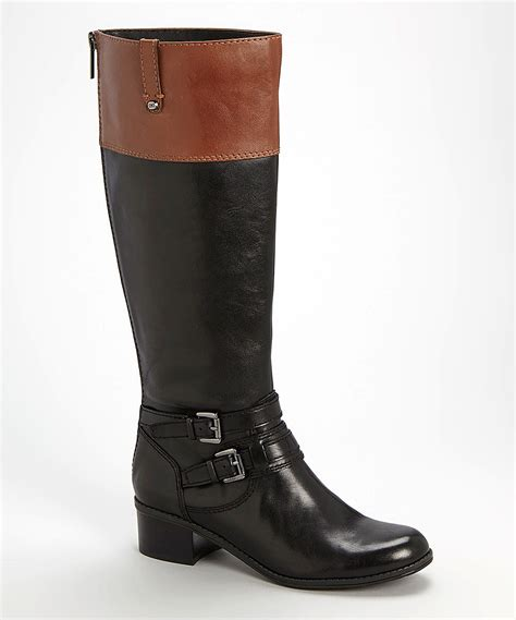 brown leather wide calf boots bandolino black brown cavendish wide calf leather boot zulily