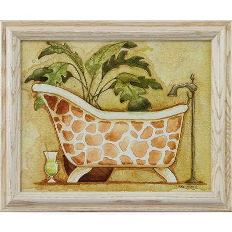 framed bathroom wall art safari 8x10 framed bathroom wall art set in white ebay