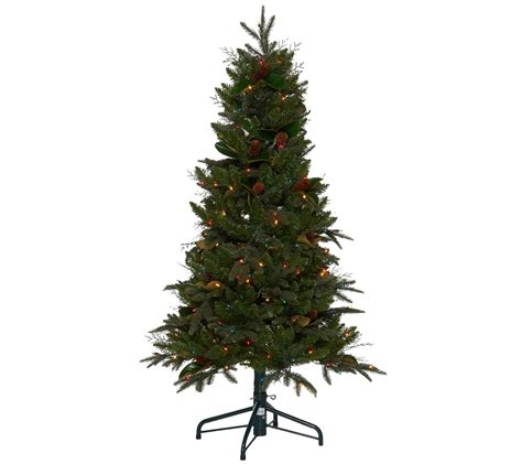 wwwqvccomprelit christmas trees bethlehem lights 5 prelit sitka spruce tree qvc