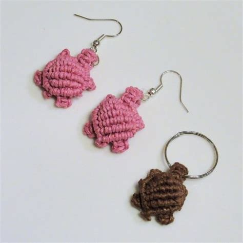 Macrame Keychain Patterns - micro macrame free tutorial turtles string