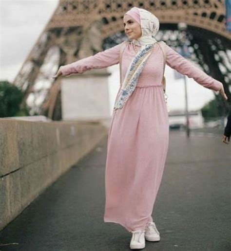 Maxi Dress Muslim Pink beautiful just trendy