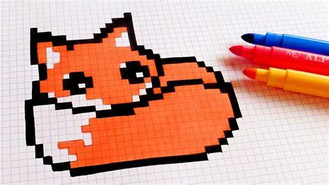 C Drawing Pixels by Handmade Pixel How To Draw Kawaii Fox Pixelart