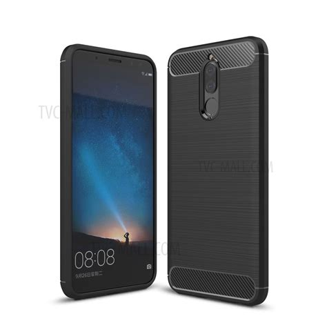 Huawei 2i Softcase Texture Carbon Casing Cover Silikon Tpu Carbon Fiber Texture Brushed Tpu Phone Cover For Huawei