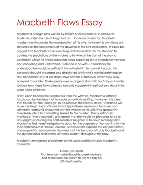 Macbeth Conclusion Essay by Buy Critical Essay About Macbeth Pdfeports349 Web Fc2