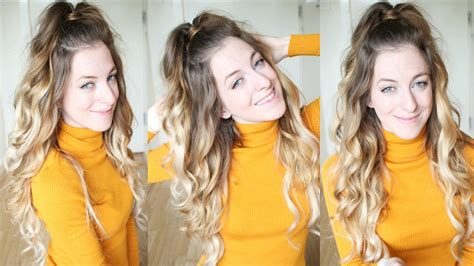 ariana grande hairstyle half up half down step by step ariana grande inspired half up half down ponytail