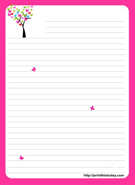 free printable stationary printables pinterest