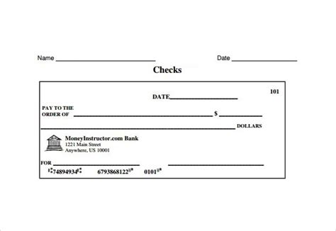 8 Sle Check Templates To Download Sle Templates Cheque Template Excel