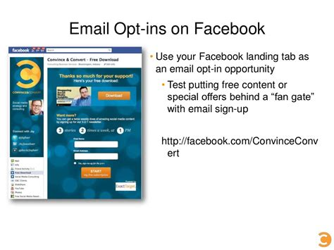 email yahoo facebook email opt ins on facebook