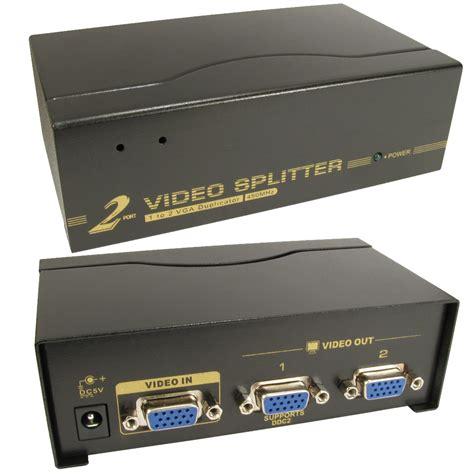 Vga Splitter 2 Port 2 port way svga vga splitter box boosts signal