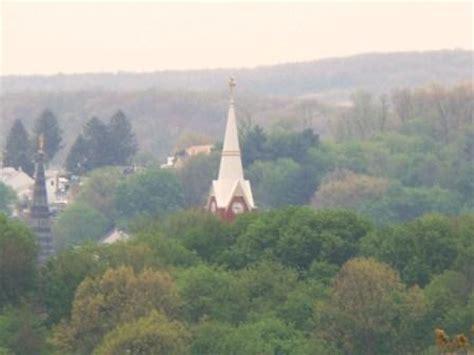ashland willow pine imsge ashland pa st mauritius church steeple at 8th pine st zoom taken from mountainside