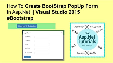bootstrap tutorial popup how to create bootstrap popup form in asp net visual