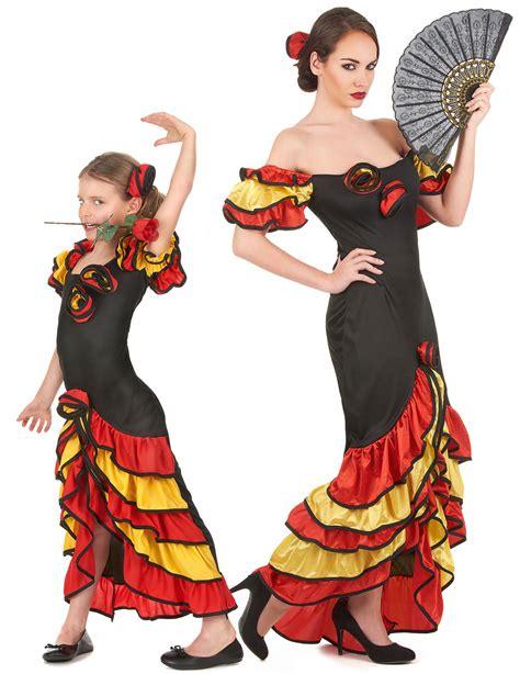 Robe Espagnole Flamenco Fille - d 233 guisement danseuse flamenco m 232 re et fille