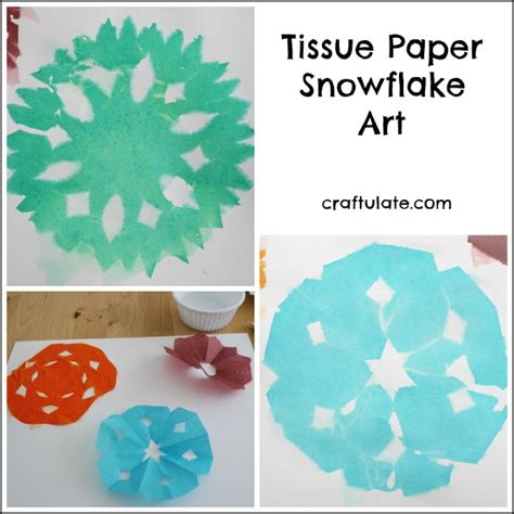 How To Make Tissue Paper Snowflakes - tissue paper snowflake craftulate