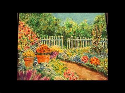Flower Garden Drawing Garden Of Flowers Drawing With Acrylic Colors Duc