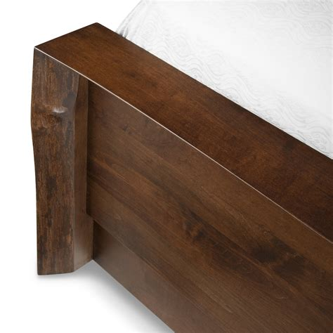 waterfall bedding the waterfall live edge solid wood bed woodcraft
