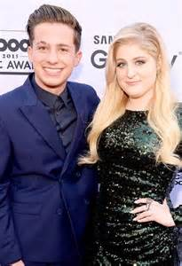 Charlie puth and meghan trainor attend the 2015 billboard music awards