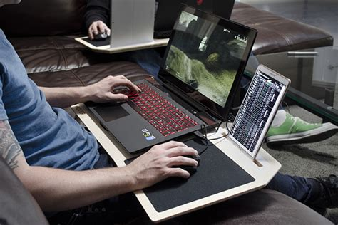 gaming laptop desk hover x gamer s desk hiconsumption