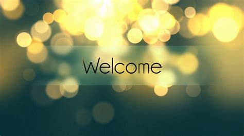 welcome to e r i c c o m welcome text animation over bokeh background motion