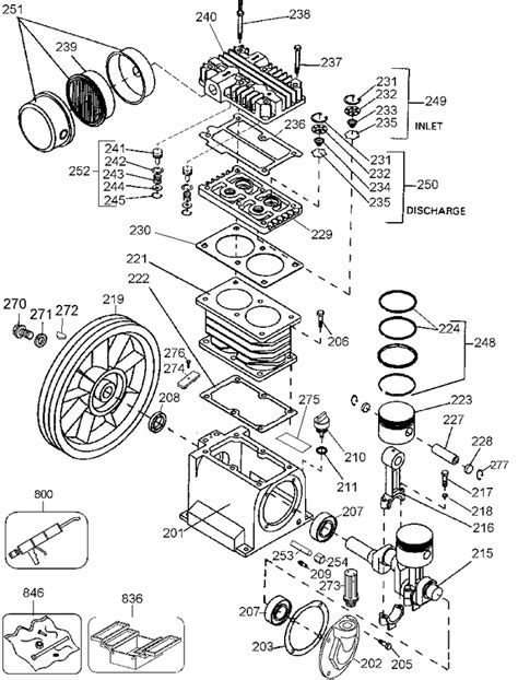ingersoll rand 2475 compressor parts wiring diagram and