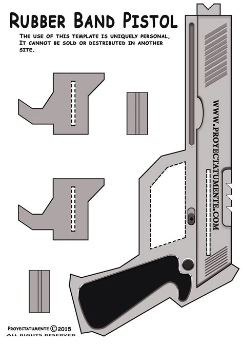 printable paper gun templates how to make a rubber band pistol proyectatumente