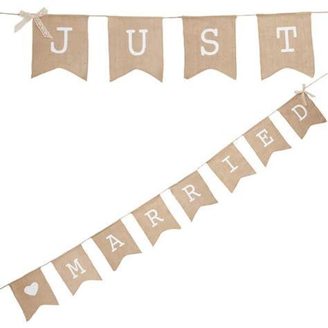 Kette Hochzeit by Girlande Quot Leinen Wimpel Kette Just Married Quot Aus Leinen