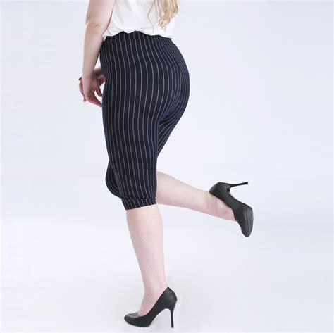 Bigsize Legging Stretch Tz01 vertical stripes slim fuax denim thin section xl 5xl large size stretch