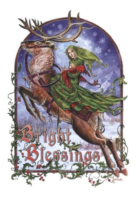 bright blessings christmas card yulewinter solstice cards  occasion recipient home