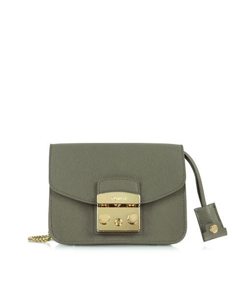 Furla Metropolis Mini Crosbody Include Box furla metropolis mini crossbody bag in green lyst