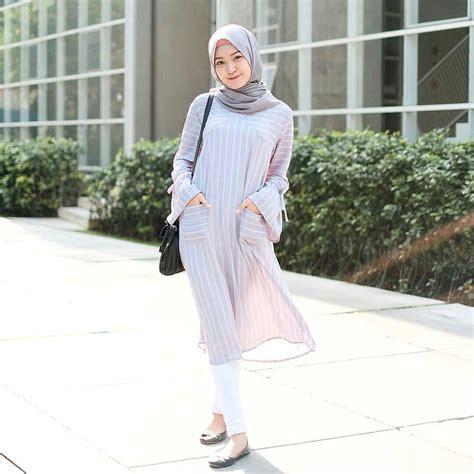 Gamis Remaja Wanita 2018 18 trend baju muslim 2018 untuk remaja gaya modis simple