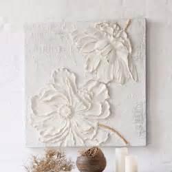 tableau avec fleurs en 3d peinture acrylique sur toile
