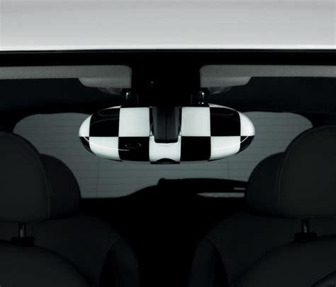 mini cooper interior rearview mirror cover checkered
