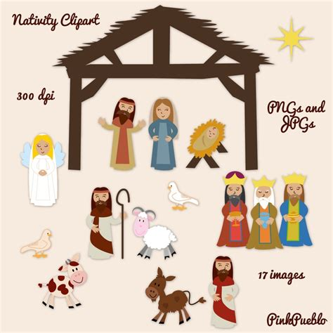 printable nativity ornaments nativity clipart print on magnet sheets for the fridge
